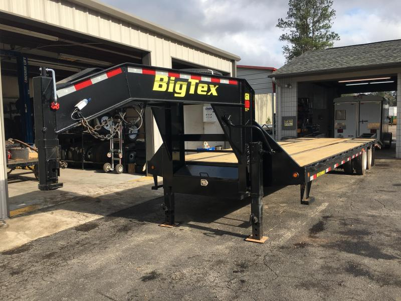 3XGN-28+5 BIG TEX 33' GOOSENECK DUAL TANDEM FLATBED TRAILER & FREE SPARE TIRE in Ashburn, VA