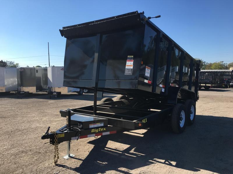 14LX-14 BIG TEX 7' X 14' DUMP TRAILER W/ 4' SIDES