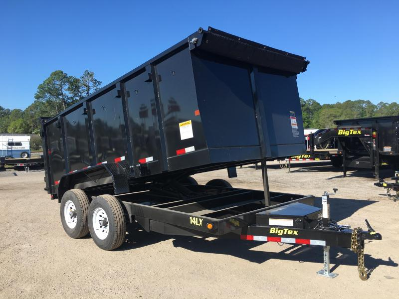 14LX-14 BIG TEX 7' X 14' DUMP TRAILER W/ 4' SIDES