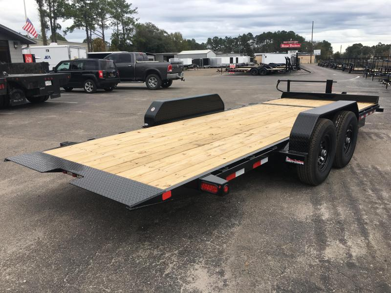 14TL-20BK BIG TEX 20' TANDEM AXLE TILT DECK EQUIPMENT TRAILER