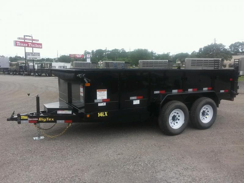 14LX-16 BIG TEX 7' X 16' DUMP TRAILER W/ 7X18 TARP & COMBO REAR GATE W/ 7' SLIDE IN RAMPS in FL