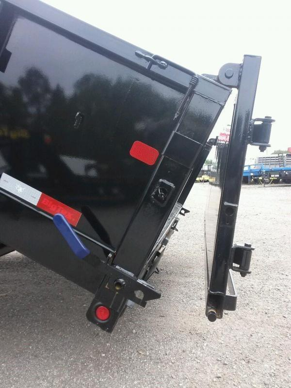 14LX-16 BIG TEX 7' X 16' DUMP TRAILER W/ 7X18 TARP & COMBO REAR GATE W/ 7' SLIDE IN RAMPS