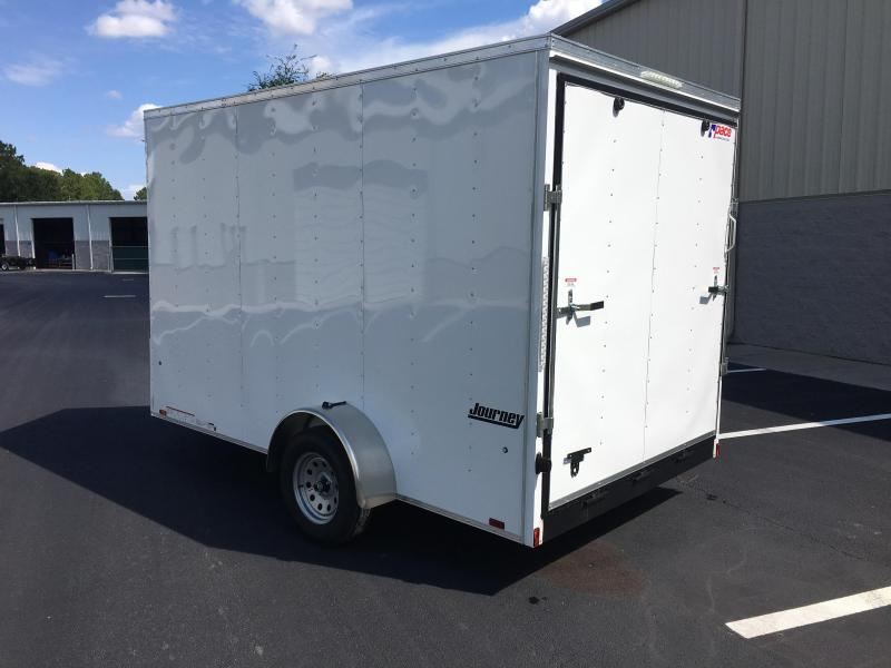 "JV7X12SE2 PACE AMERICAN 7 X 12 ENCLOSED CARGO TRAILER W/ 12"" EXTRA HEIGHT"