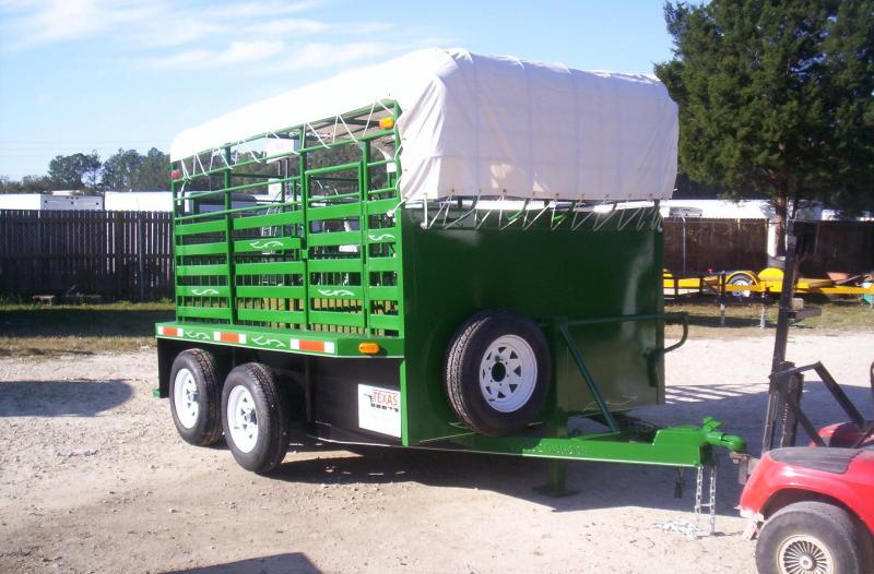 ST1210B TEXAS TRAILERS 12' BUMPER PULL STOCK TRAILER W/ CUSTOM OPTIONS