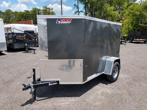 JV5X8SI2SE PACE AMERICAN 5 X 8 ENCLOSED CARGO TRAILER W/ UPGRADES