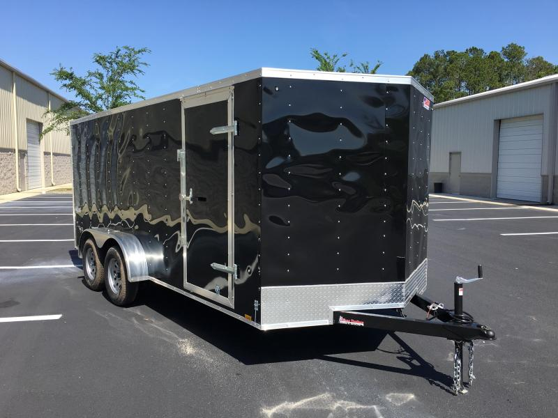 OB7X16TE2 PACE AMERICAN 7X16 ENCLOSED CARGO TRAILER