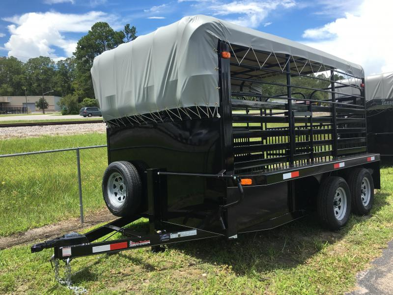 ST1270B TEXAS TRAILERS 12' BUMPER PULL STOCK TRAILER W/ FULL WALK OUT ESCAPE DOOR AND CUT GATE in Ashburn, VA