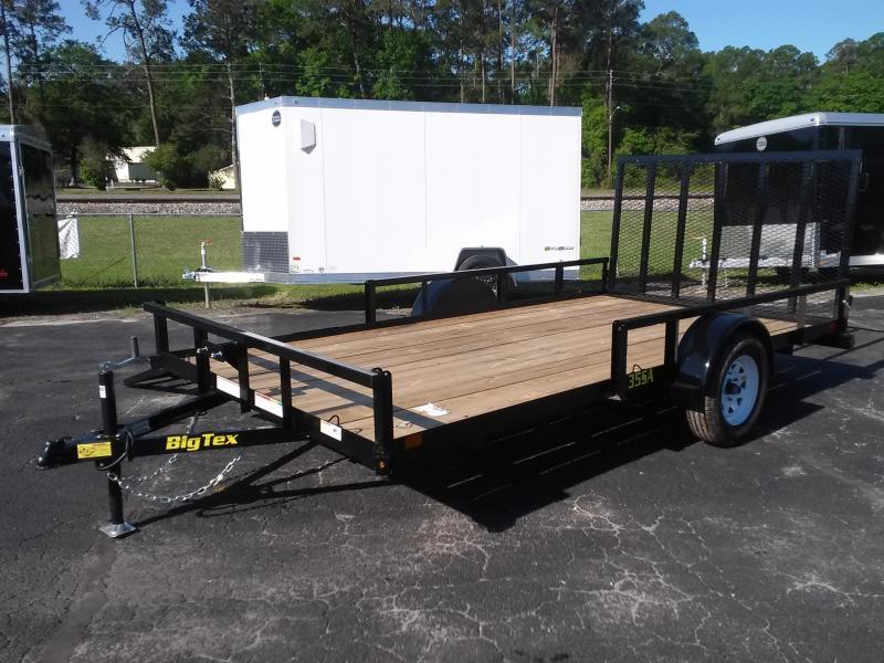 "35SA-14BKRSX BIG TEX 6'11"" X 14' UTILITY TRAILER W/ TAILGATE & SIDE LOAD RAMPS"