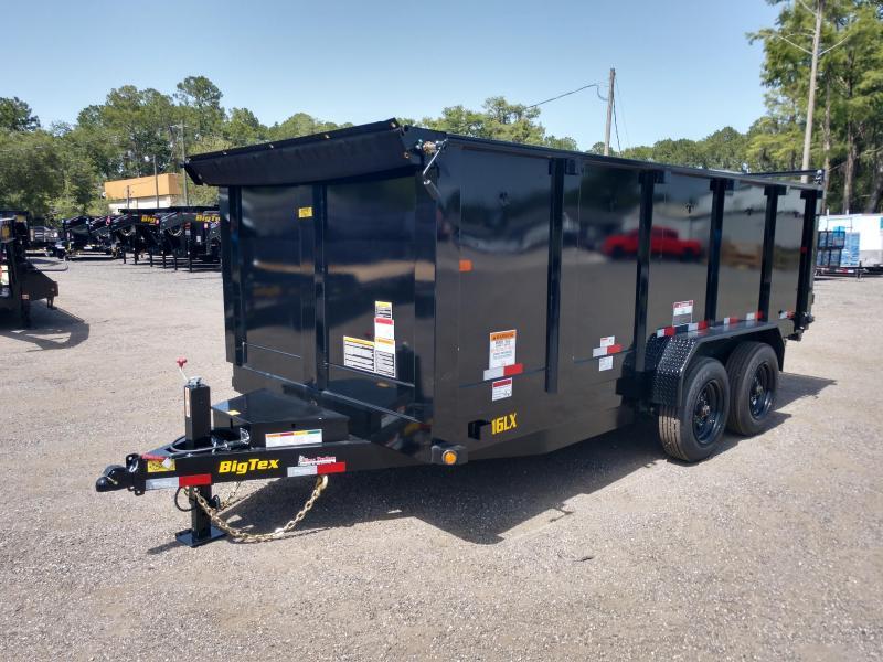 16LX-16 BIG TEX 7' X 16' DUMP TRAILER W/ 4' SIDES AND TARP INSTALLED