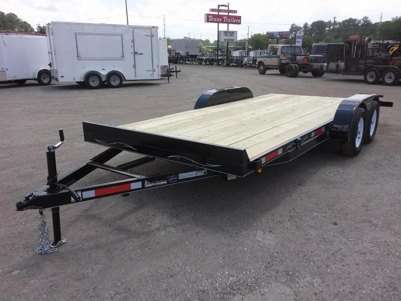 CH1870 TEXAS TRAILERS 18' CAR HAULER W/ SLIDE OUT RAMPS in Ashburn, VA