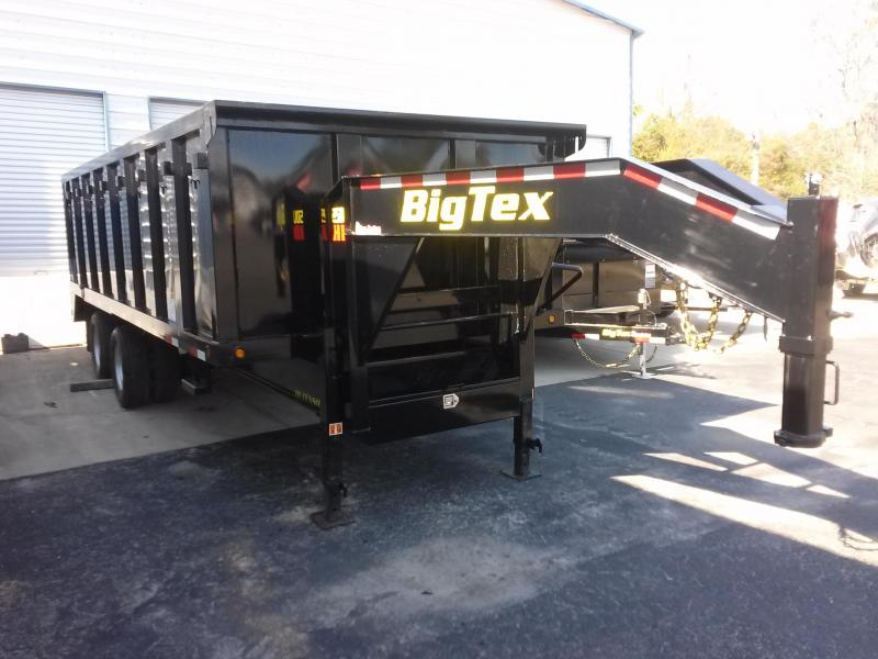 25DU-20 BIG TEX 20' DUAL TANDEM GOOSENECK DUMP TRAILER W/ 4' SIDES and FREE SPARE TIRE