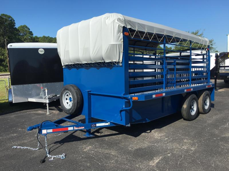 ST1410B TEXAS TRAILERS 14' BUMPER PULL STOCK TRAILER in Ashburn, VA