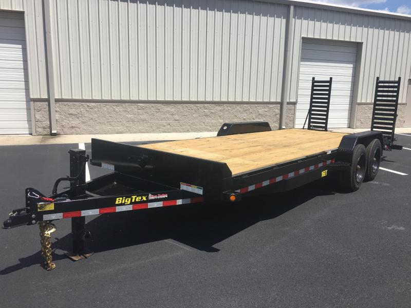 16ET-19+3 BIG TEX EQUIPMENT TRAILER WITH STAND UP RAMPS