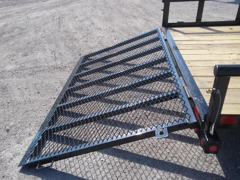 """70PI-16XBK4RG BIG TEX 6'11"""" X 16' PIPE UTILITY TRAILER W/ TAILGATE AND BRAKES ON BOTH AXLES"""