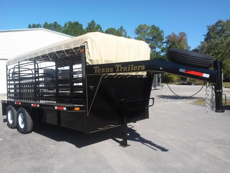 ST1612G TEXAS TRAILERS 16' GOOSENECK STOCK TRAILER in Ashburn, VA