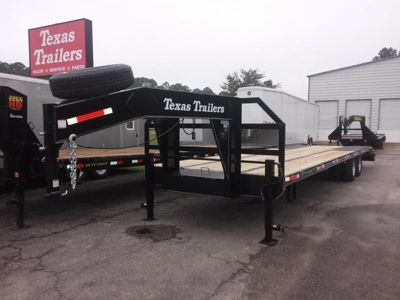 FB3320G TEXAS TRAILERS 33' GOOSENECK DECK OVER FLATBED W/ CUSTOM OPTIONS