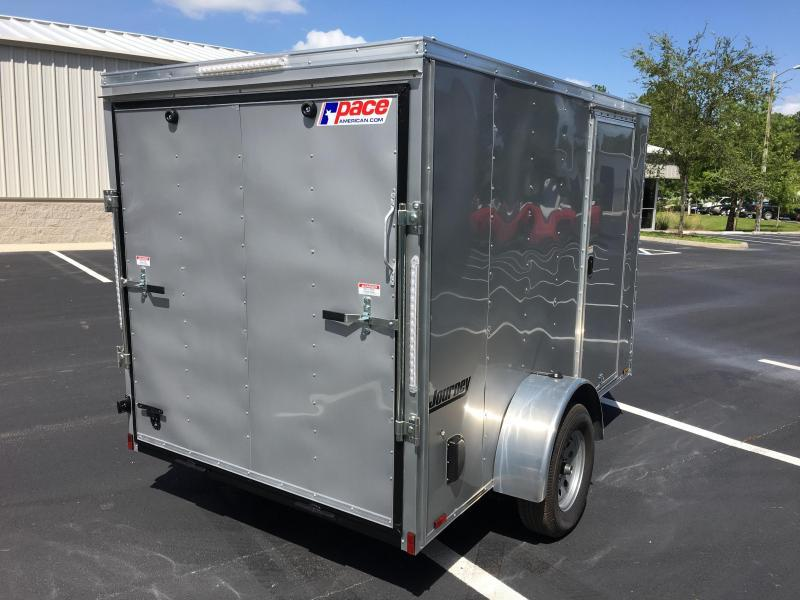 2019 PACE AMERICAN 6 X 10 CARGO TRAILER W/ (3) ROWS OF E-TRACK & SPARE TIRE MOUNT