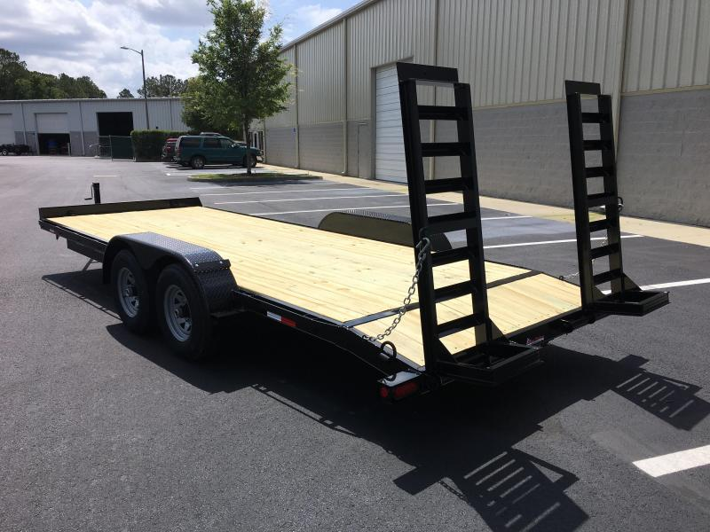 EQ2010B TEXAS TRAILERS 20' 10000# EQUIPMENT TRAILER
