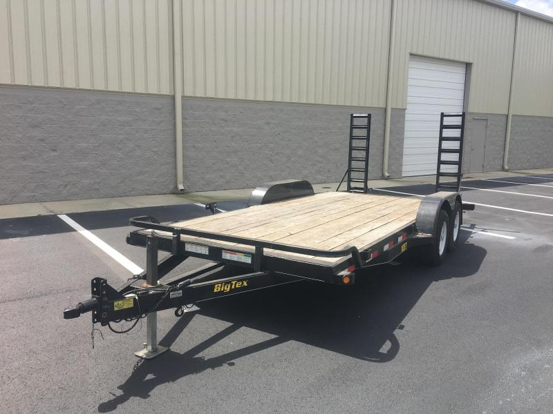 2014 BIG TEX 10ET-18' EQUIPMENT TRAILER W/ STAND UP RAMPS