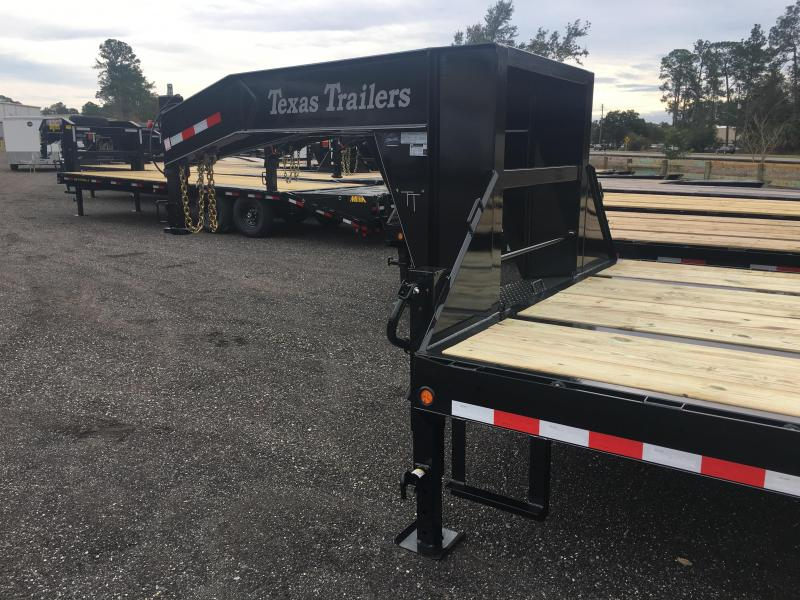 FB3024G TEXAS TRAILERS 30' GOOSENECK DECK OVER FLATBED W/ ELECTRIC-OVER-HYDRAULIC BRAKES