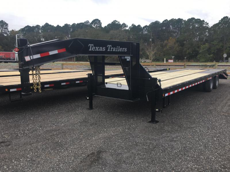 FB3024G TEXAS TRAILERS 30' GOOSENECK DECK OVER FLATBED W/ ELECTRIC-OVER-HYDRAULIC BRAKES in Ashburn, VA