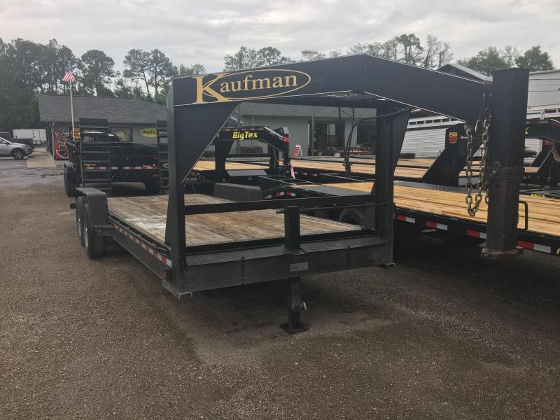 2014 KAUFMAN 20' GOOSENECK EQUIPMENT TRAILER
