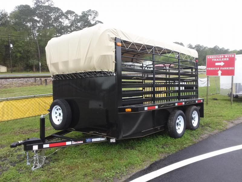 ST1270B TEXAS TRAILERS 12' BUMPER PULL STOCK TRAILER W/ FULL WALK OUT ESCAPE DOOR in Ashburn, VA