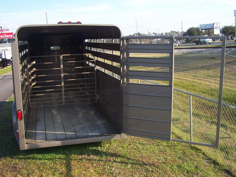 CMS6630-14 CM 6' X 14' STOCKER W/ CUT GATE AND COMBO REAR GATE W/ FULL WALK OUT ESCAPE DOOR