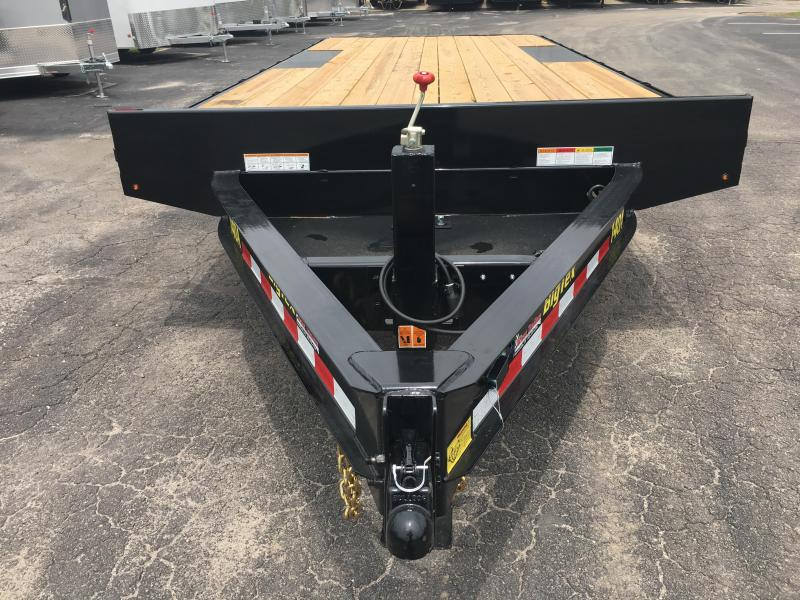 14OA-20-8SIR BIG TEX 20' DECK OVER FLATBED W/ 8' SLIDE IN RAMPS