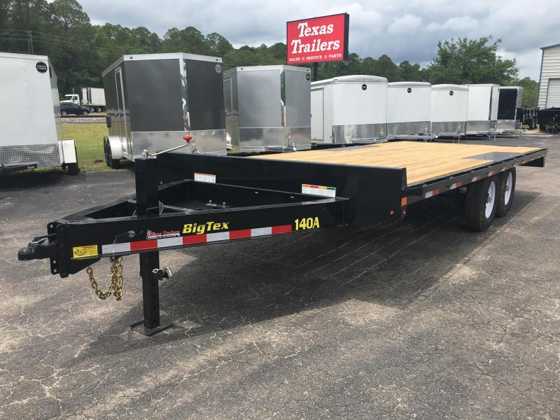 14OA-20-8SIR BIG TEX 20' DECK OVER FLATBED W/ 8' SLIDE IN RAMPS in FL