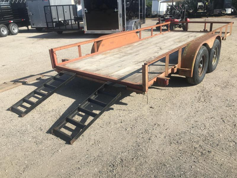 1991 HMDE 16' UTILITY TRAILER W/ ADJUSTABLE RAMPS