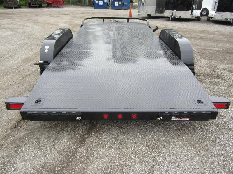70DM-20BK BIG TEX 20' STEEL DECK CAR HAULER