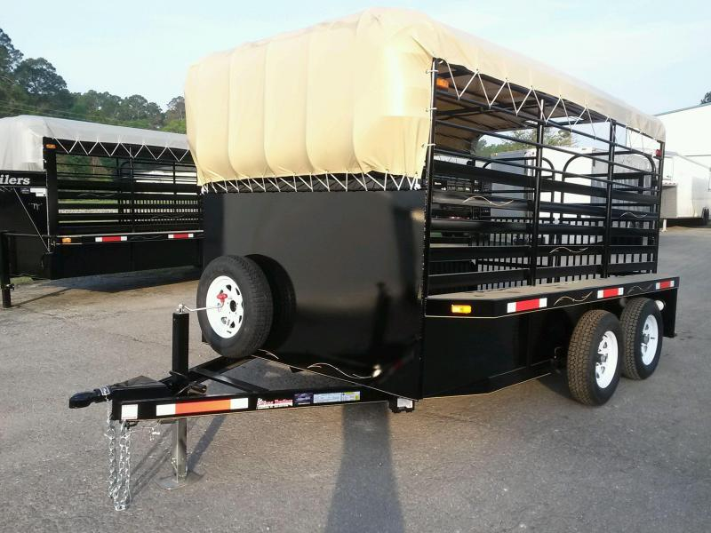 ST1270B TEXAS TRAILERS 12' BUMPER PULL STOCK TRAILER in Ashburn, VA