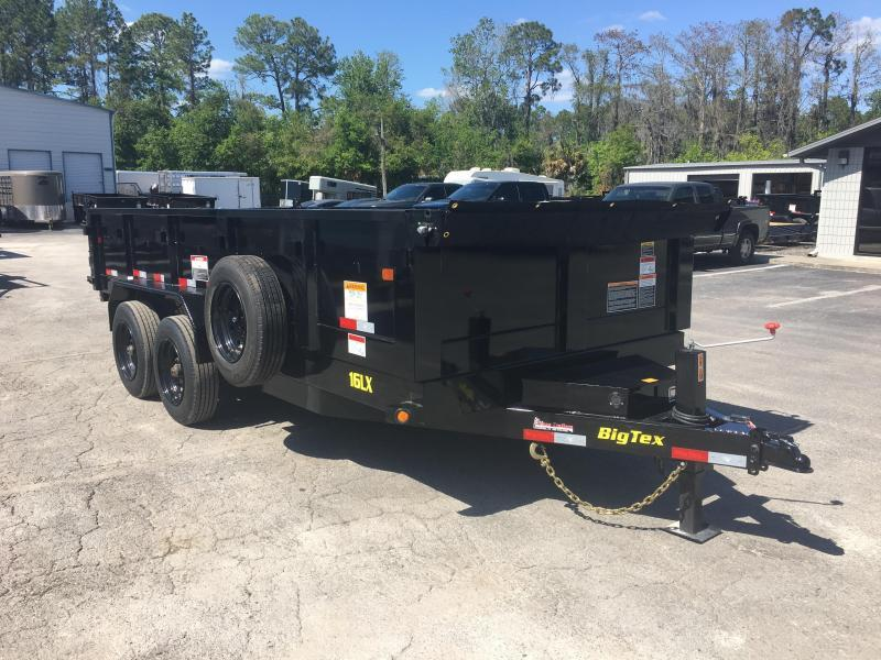 16LX-14 BIG TEX 7' X 14' DUMP TRAILER W/ 17500# GVWR