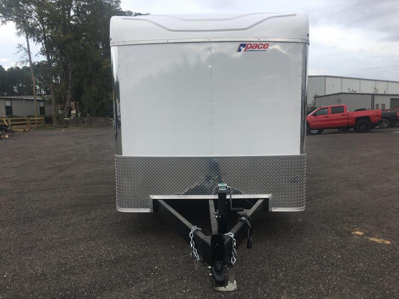 PXT7X16TE2 PACE AMERICAN 7X16 ENCLOSED TRAILER W/ ALUMINUM WHEELS