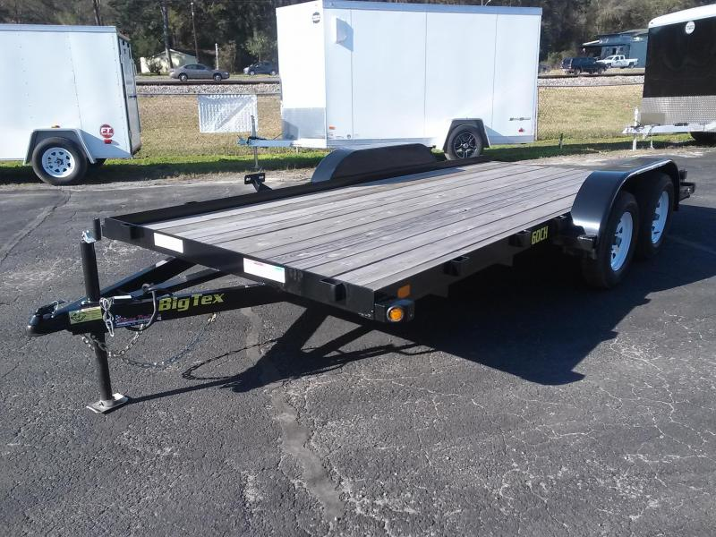 "60CH-16BK BIG TEX 6'11"" X 16' CAR/ATV HAULER W/ SLIDE OUT RAMPS"