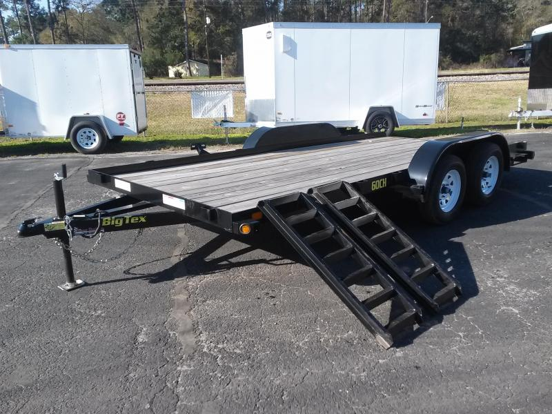 "60CH-16BK BIG TEX 6'11"" X 16' CAR/ATV HAULER W/ SLIDE OUT RAMPS in Ashburn, VA"