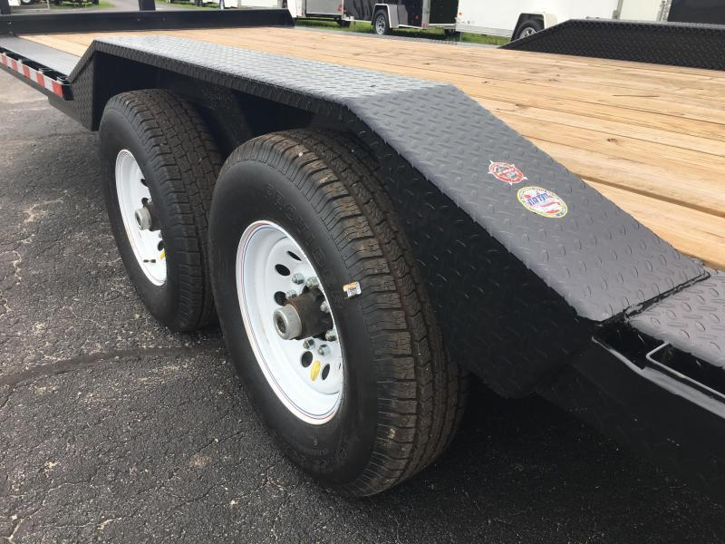14DF-20BK BIG TEX 20' DRIVE OVER FENDERS EQUIPMENT TRAILER