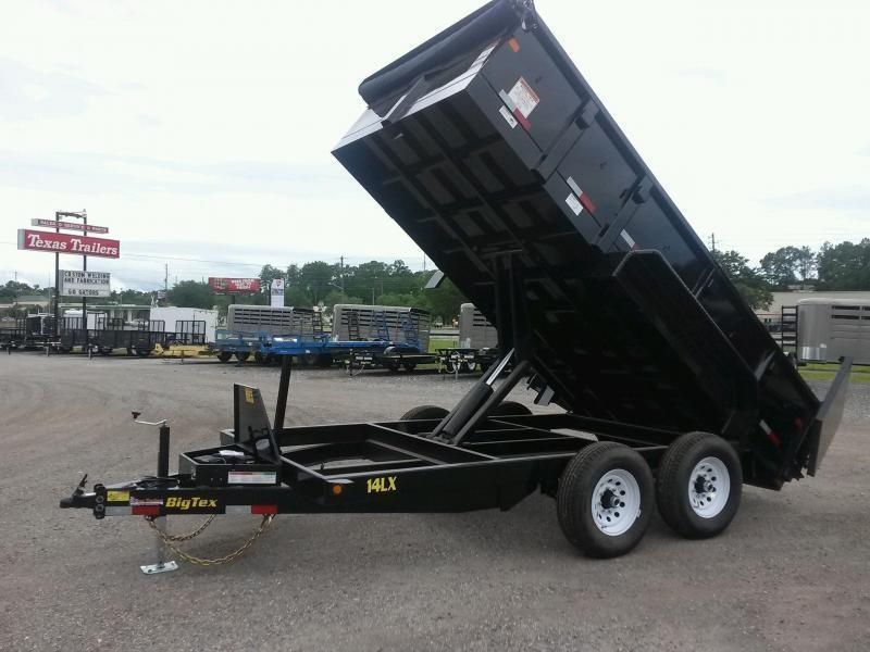 14LX-14 BIG TEX 7' X 14' DUMP TRAILER W/ 7X18 TARP & COMBO REAR GATE W/ 7' SLIDE IN RAMPS in FL