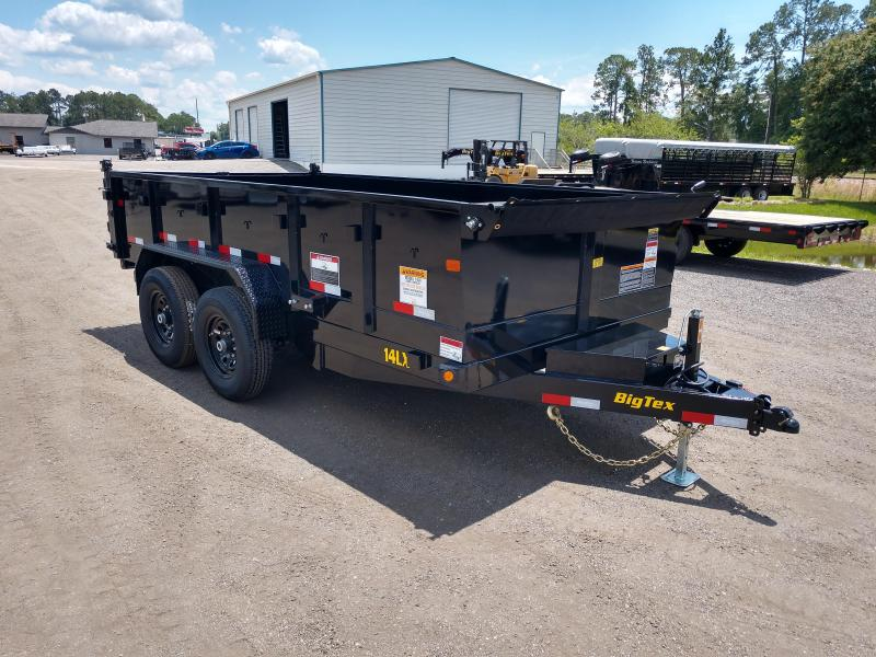 14LX-14 BIG TEX 7' X 14' DUMP TRAILER W/ 7X18 TARP & COMBO REAR GATE W/ 7' SLIDE IN RAMPS in Ashburn, VA
