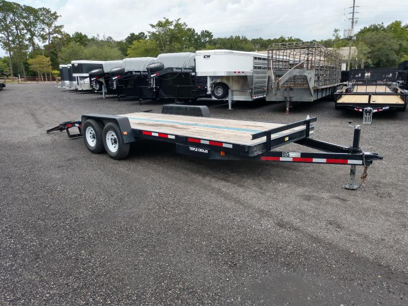 2017 TRIPLE CROWN 20' EQUIPMENT TRAILER W/ STAND UP RAMPS