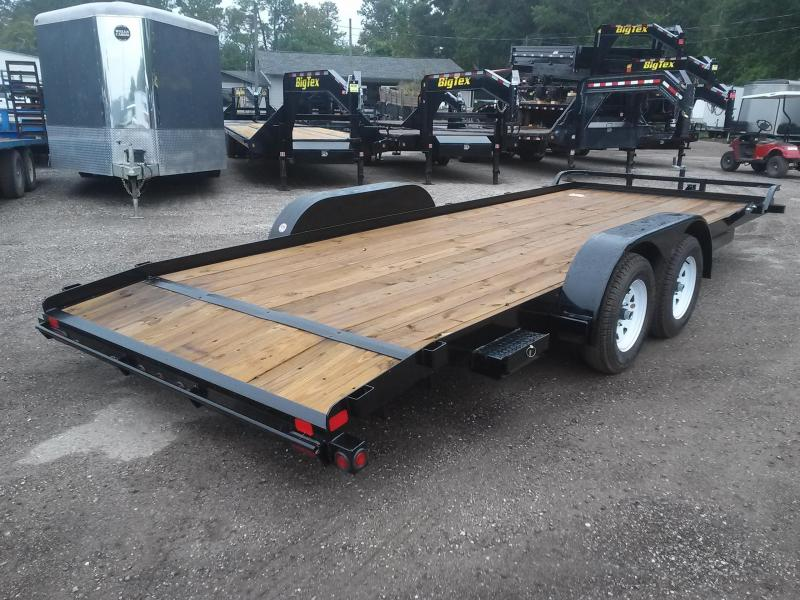 70CH-20BKDT BIG TEX 20' CAR HAULER W/ SLIDE OUT RAMPS
