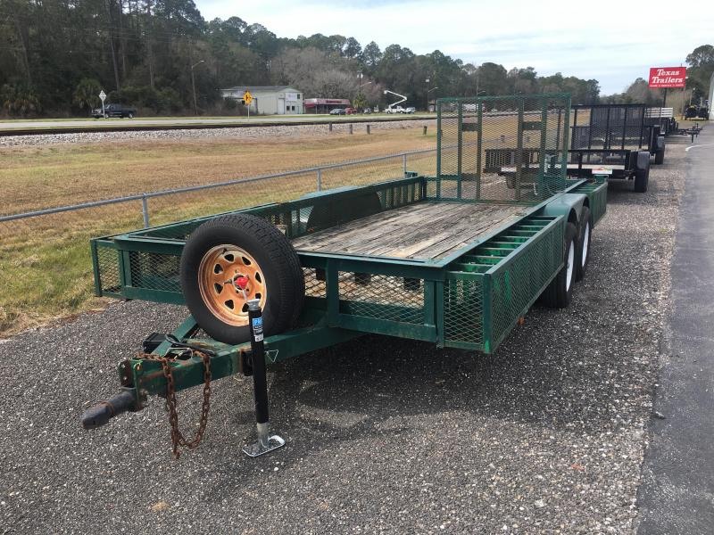 "2003 ETML 6'4"" X 16' UTILITY TRAILER W/ EXPANDED METAL BOXES & SPARE TIRE"