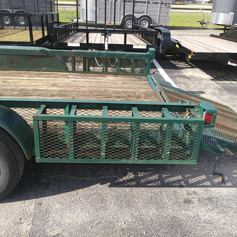 """2003 ETML 6'4"""" X 16' UTILITY TRAILER W/ EXPANDED METAL BOXES & SPARE TIRE"""