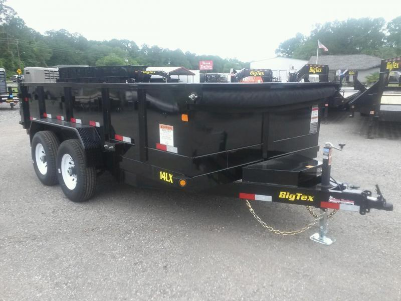 14LX-12 BIG TEX 7' X 12' DUMP TRAILER W/ 7X18 TARP & COMBO REAR GATE W/ 7' SLIDE IN RAMPS in FL