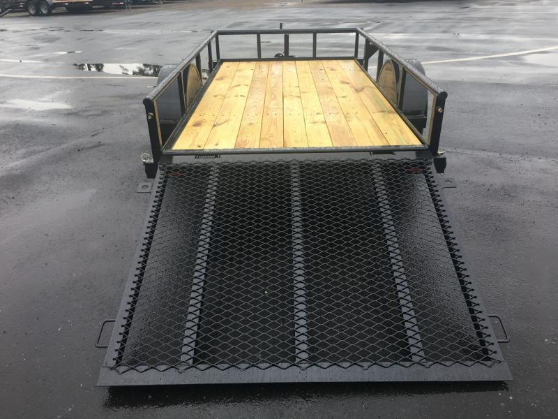 30SA-10BK4RG BIG TEX 5X10 UTILITY TRAILER W/ SPRING ASSISTED TAILGATE