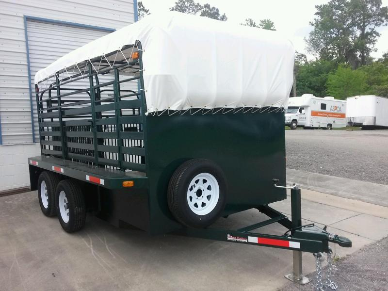ST1270B TEXAS TRAILERS 12' BUMPER PULL STOCK TRAILER W/ CUSTOM OPTIONS