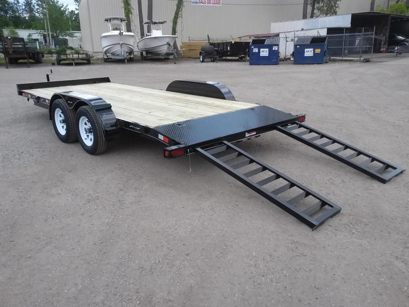 CH2070 TEXAS TRAILERS 20' CAR HAULER W/ SLIDE OUT RAMPS