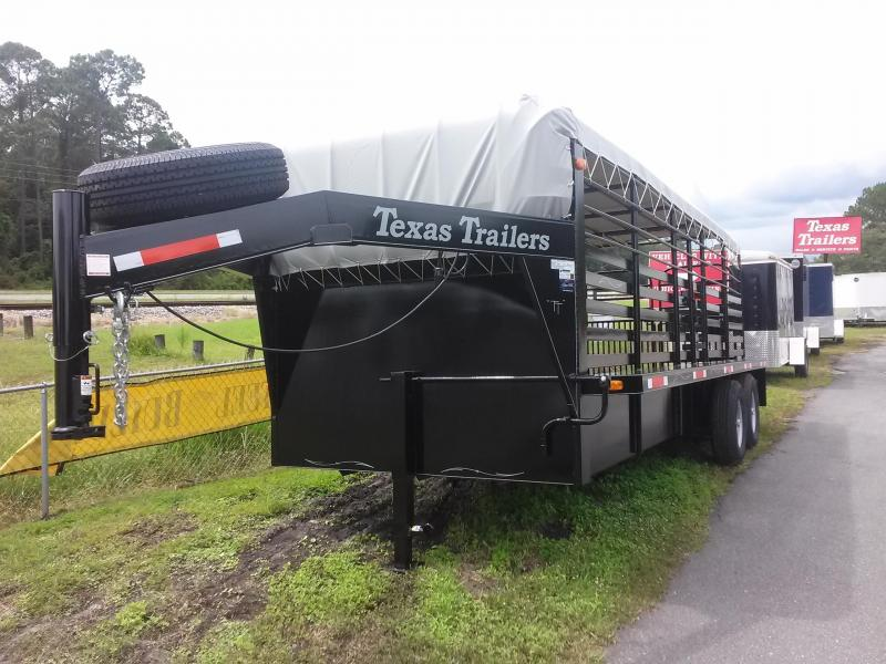 ST2012G TEXAS TRAILERS 20' GOOSENECK STOCK TRAILER  in Ashburn, VA