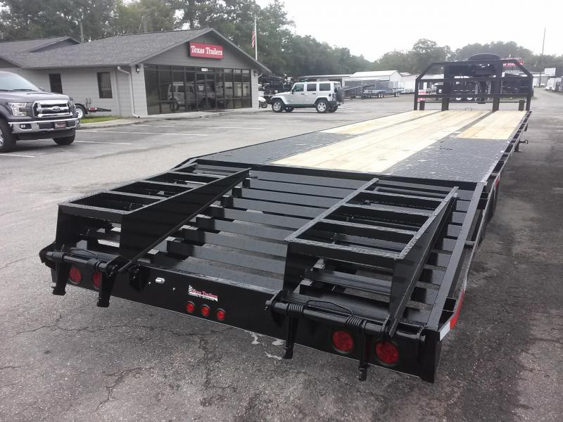 FB2520G TEXAS TRAILERS 25' GOOSENECK DECK OVER FLATBED W/ SPARE TIRE